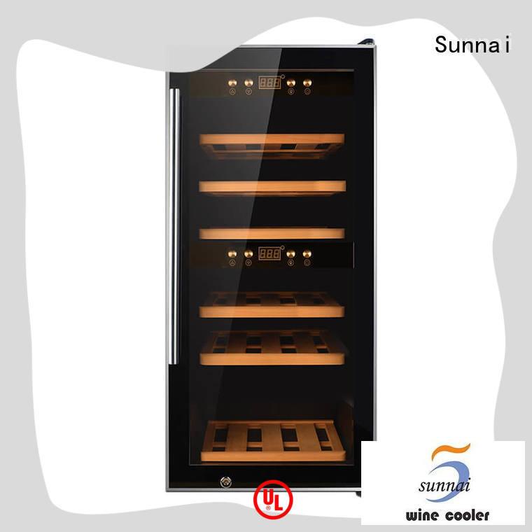 Sunnai size wine cooler refrigerator supplier for indoor