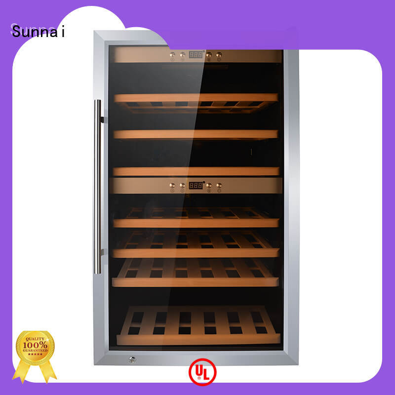 durable freestanding wine cooler wood supplier for shop
