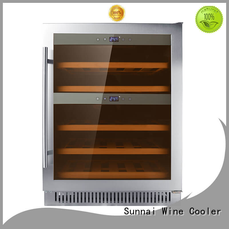 Sunnai panel under counter wine fridge series for work station