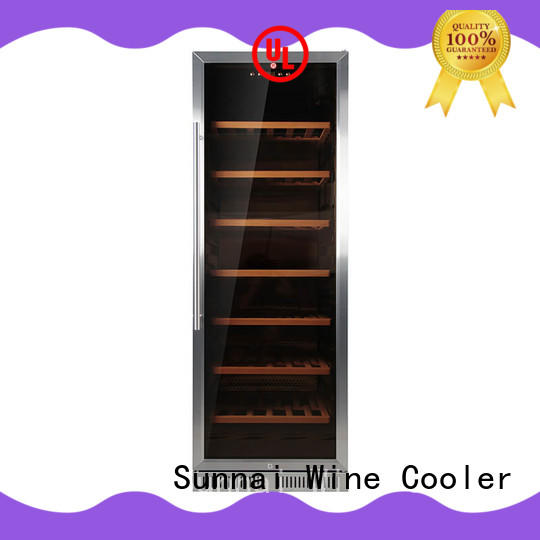 black single zone wine fridge refrigerator cooler for shop