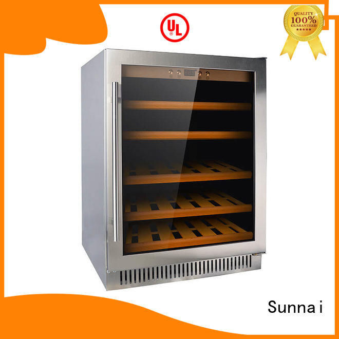 Sunnai panel under counter wine cooler compressor for home