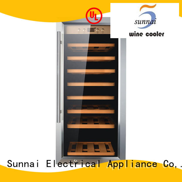 Sunnai bottles dual zone wine refrigerator series for home