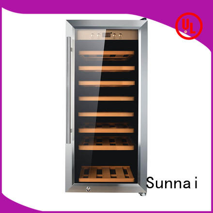 Sunnai shelves dual zone freestanding wine cooler series for shop