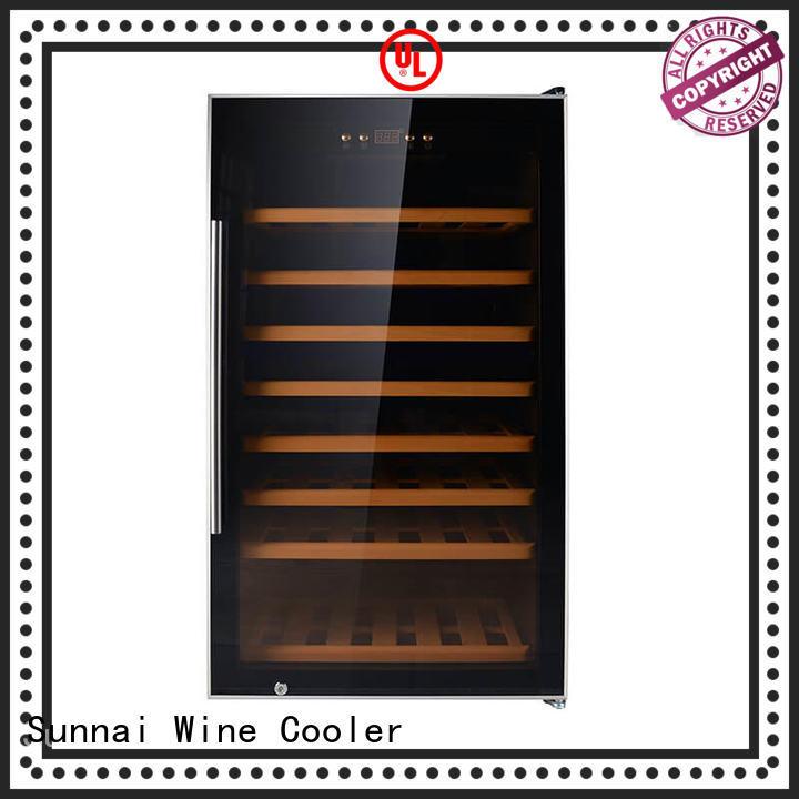 Sunnai high quality dual zone wine fridge supplier for indoor