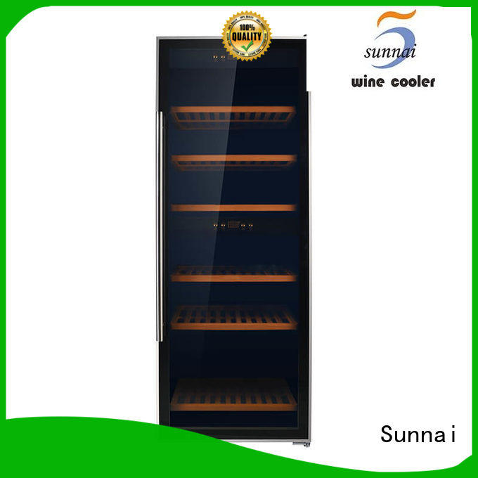 Sunnai online stainless steel door wine cooler series for home