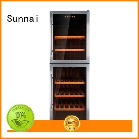 black under counter dual zone wine fridge compressor home