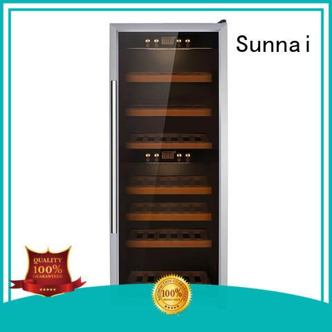 Sunnai double single zone wine cooler wholesale for shop