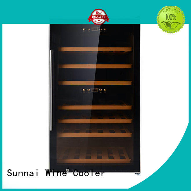 professional wine bottle fridge beech series for shop
