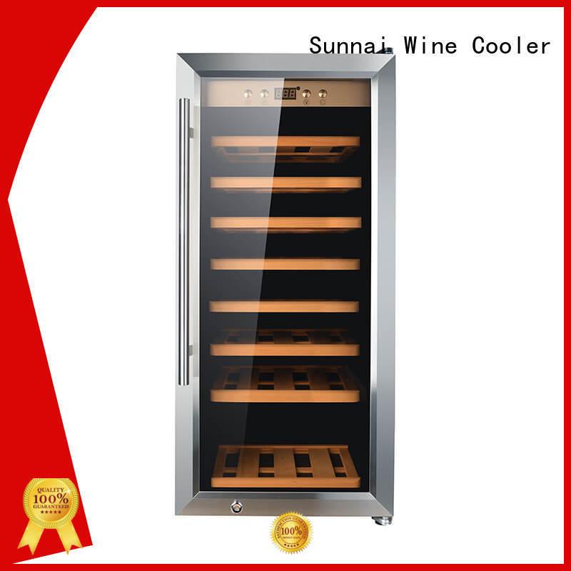 black single zone wine fridge compressor series for work station