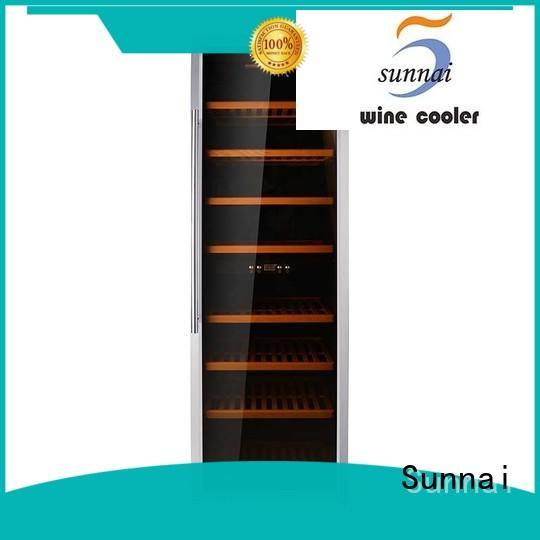 Sunnai single wine storage cooler refrigerator for shop