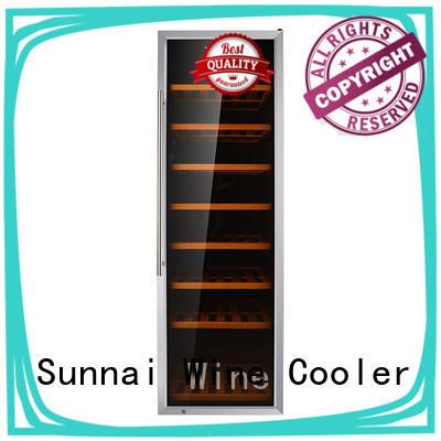 Sunnai black compressor wine cooler dual zone refrigerator for work station