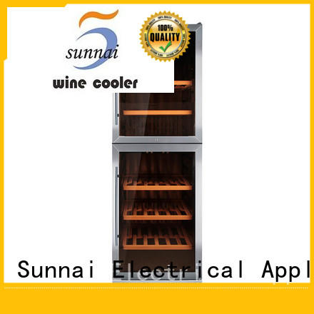 Sunnai stainless under counter wine refrigerator series for shop