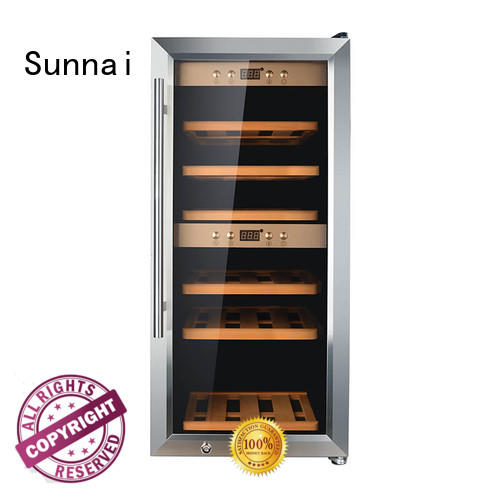Sunnai bottles wine storage fridge product for indoor