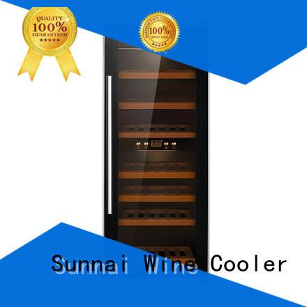 Sunnai safety dual zone wine fridge refrigerator for work station