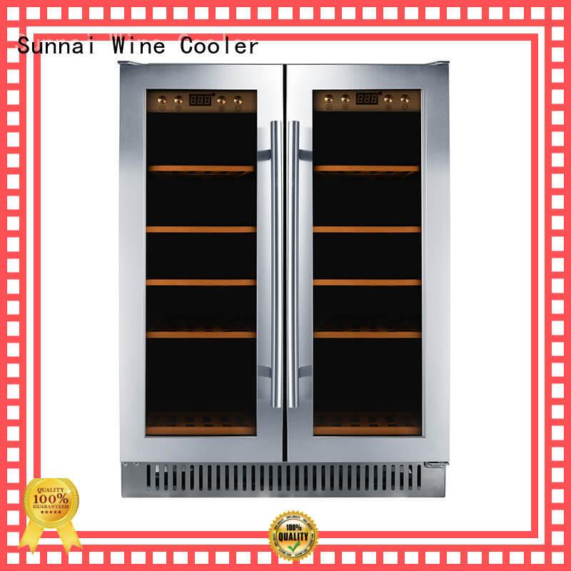 Sunnai double single zone wine fridge wholesale for home