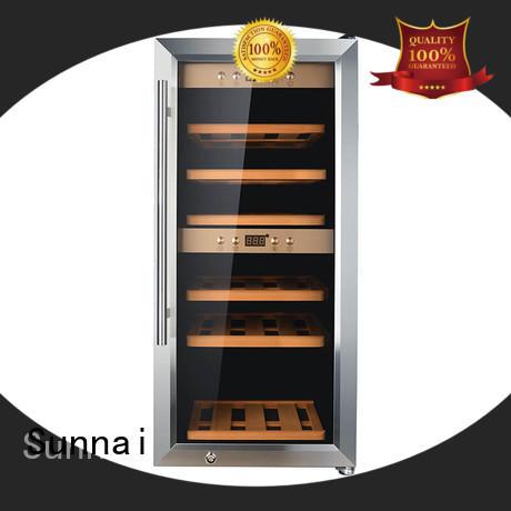 black dual zone freestanding wine cooler panel series for indoor