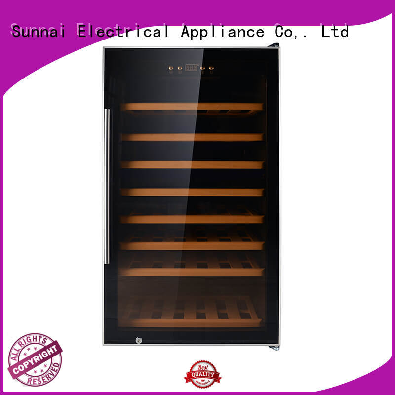 Sunnai cooler single zone wine refrigerator supplier for work station