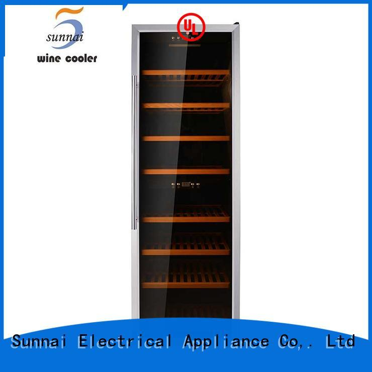 Sunnai durable dual zone wine refrigerator supplier for work station