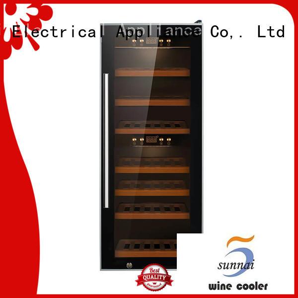 Sunnai professional best freestanding wine fridge wood for indoor