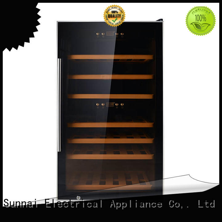 Sunnai professional dual zone wine cooler product for indoor