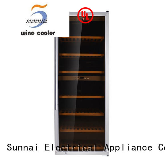 Sunnai door wine bottle cooler supplier for indoor