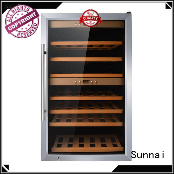 Sunnai stainless wine storage refrigerator product for home