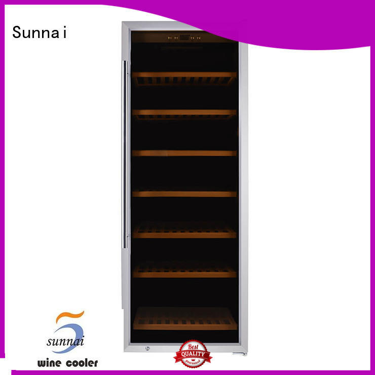 Sunnai shelves wine cooler fridge manufacturer for home