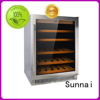 Sunnai durable double doors wine cooler wholesale for shop