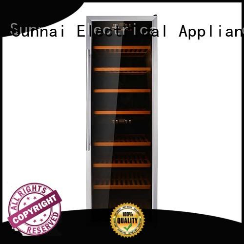 Sunnai dual single zone wine refrigerator supplier for home