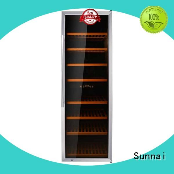 Sunnai silver free standing wine refrigerator product for home