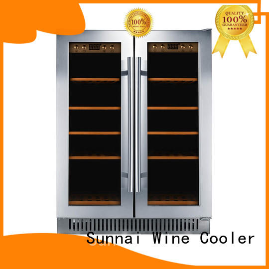 single undercounter thermoelectric wine cooler silver station Sunnai