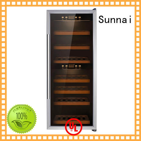 Sunnai fridge dual zone wine fridge refrigerator for work station