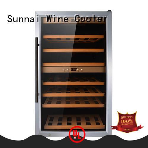 Sunnai steel compressor wine cooler dual zone supplier for work station