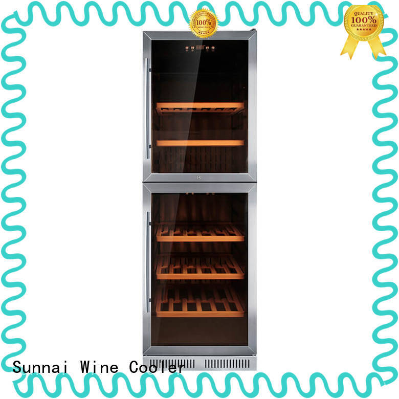 Sunnai dual under counter dual zone wine fridge series for home
