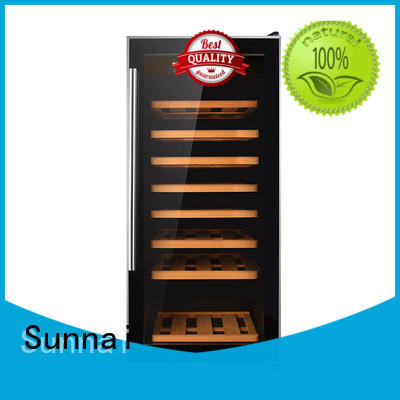 Sunnai high quality dual zone wine refrigerator manufacturer for indoor