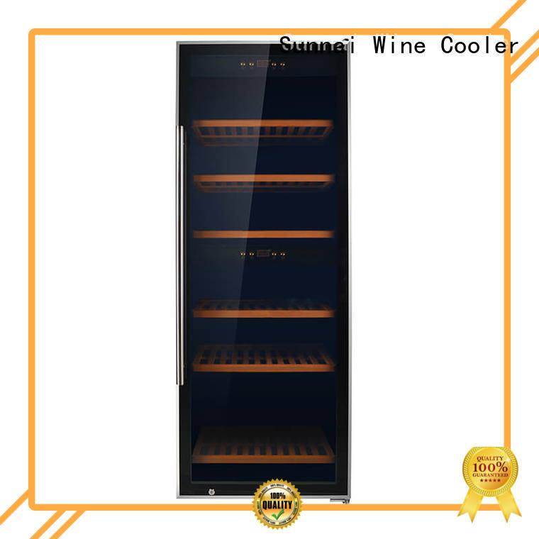 Sunnai black wine cooler refrigerator manufacturer for work station