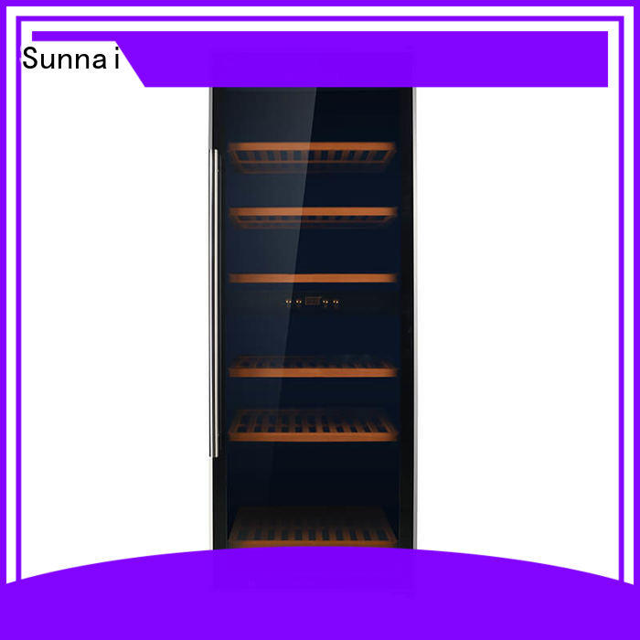 Sunnai refrigerator dual zone wine refrigerator refrigerator for work station
