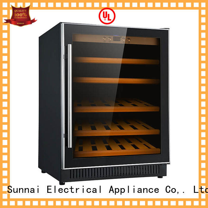 Sunnai safety under counter wine refrigerator cooler for shop