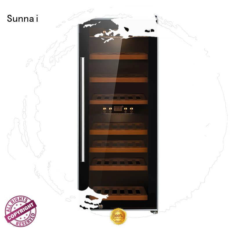 Sunnai professional stainless steel door wine cooler product for shop