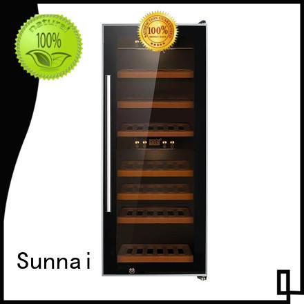 Sunnai durable single zone wine refrigerator series for home