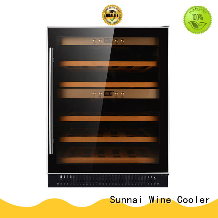 Sunnai double under counter wine fridge cooler for shop
