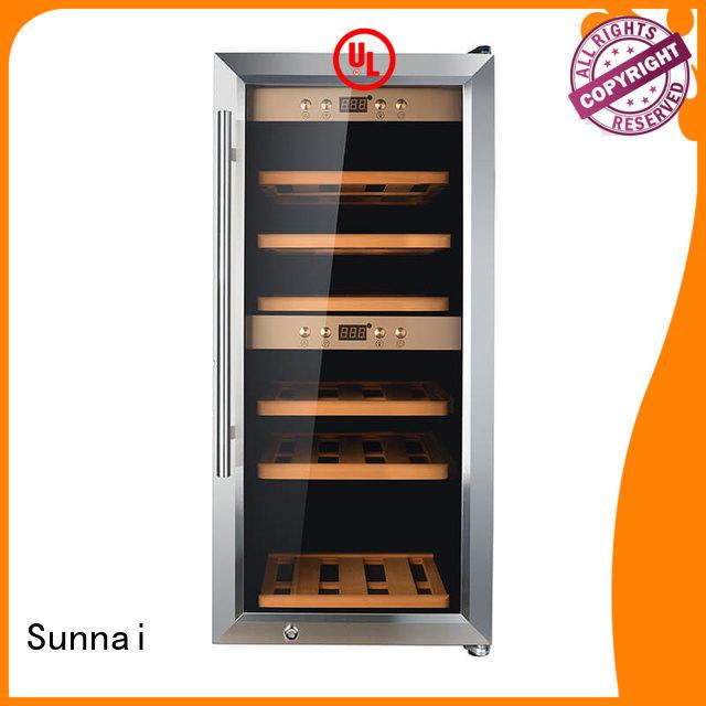 Sunnai cooler freestanding wine cooler supplier for indoor