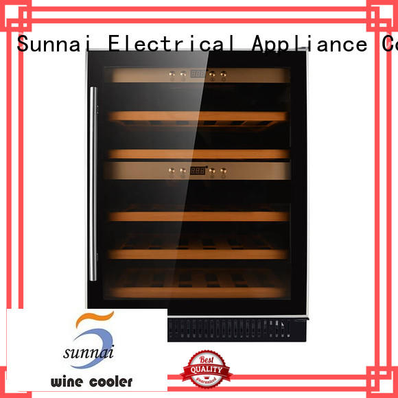 black under counter wine refrigerator double manufacturer for home