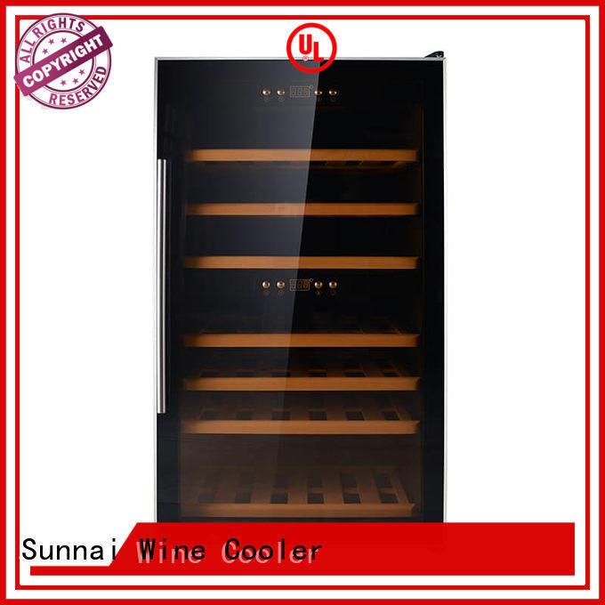 black single zone wine fridge table series for shop
