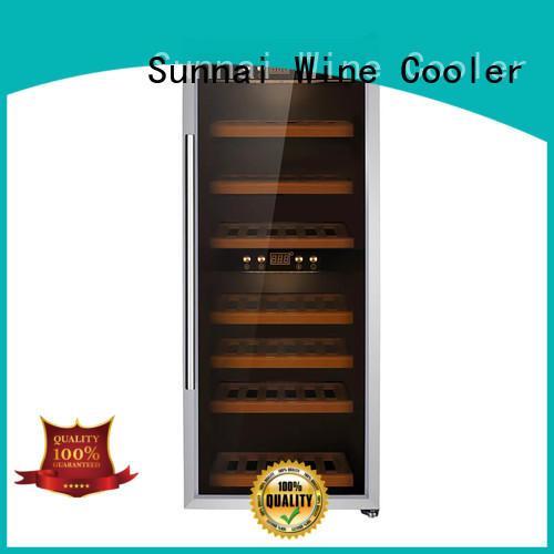 Sunnai single dual zone wine refrigerator supplier for home