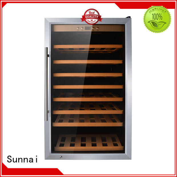 Sunnai beech compressor wine cooler dual zone refrigerator for work station