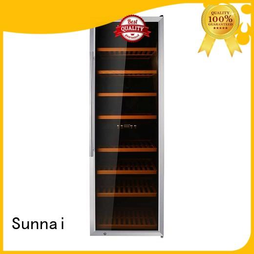 Sunnai black dual zone wine cooler supplier for shop