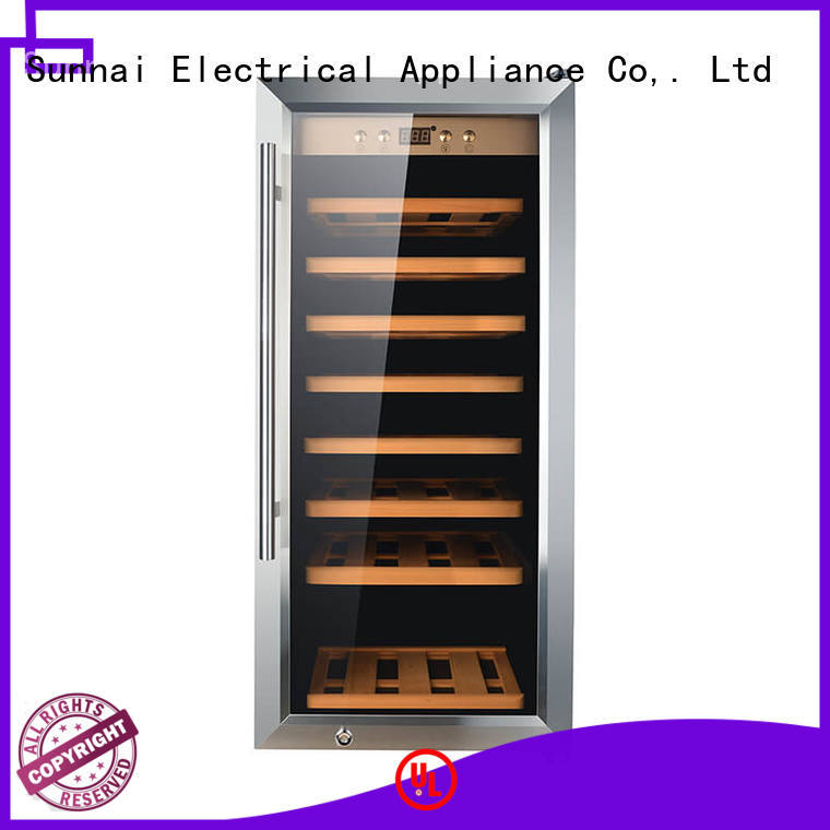 Sunnai durable free standing wine refrigerator product for indoor