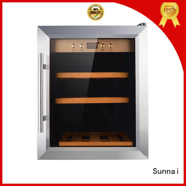 Sunnai double dual zone wine refrigerator refrigerator for shop