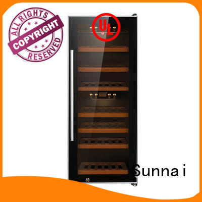 safety stainless steel door wine cooler single refrigerator for home